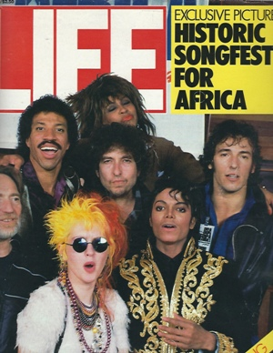 Image for Life Magazine, April 1985 Exclusive Pictures Historic Songfest for Africa