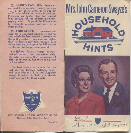 Image for Mrs. John Cameron Swayze's Household Hints