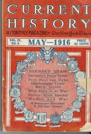 Image for Current History (a Monthly Magazine) May 1916 Volume IV, No. 2
