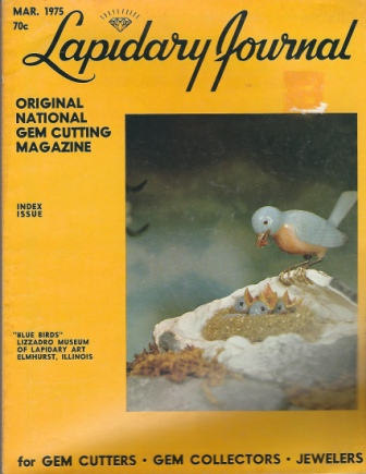 Image for Lapidary Journal, March 1975 Original National Gem Cutting Magazine