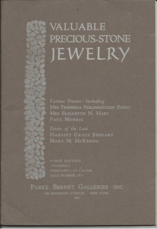 Image for Valuable Precious Stone Jewelry, Public Auction, Thursday, February 2, 1967