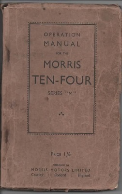 "Image for Operation Manual For The Morris Ten-four, Series ""M"""