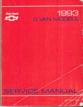 Image for 1993 Chevrolet G Van Models Factory Service Manual #st331-93