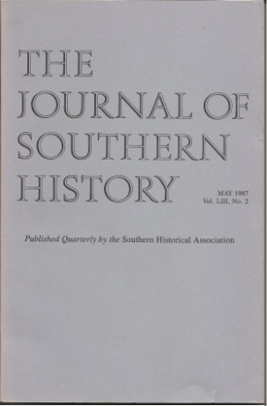 Image for The Journal Of Southern History, May 1987 Vol. LIII, No. 2
