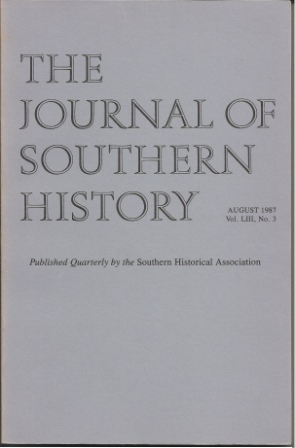 Image for The Journal Of Southern History August 1987 Vol. LIII, No. 3