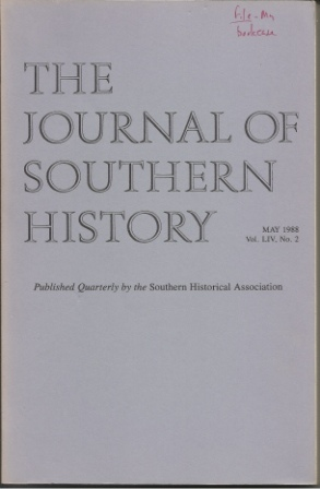 Image for The Journal Of Southern History May 1988 Vol. LIV, No. 2