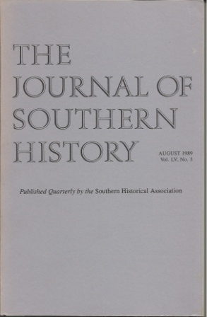 Image for The Journal Of Southern History August 1989 Vol. LV, No. 3
