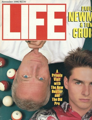 Image for Life Magazine, November 1986 Paul Newman & Tom Cruise, a Private Visit with the New Hustler and the Old Pro