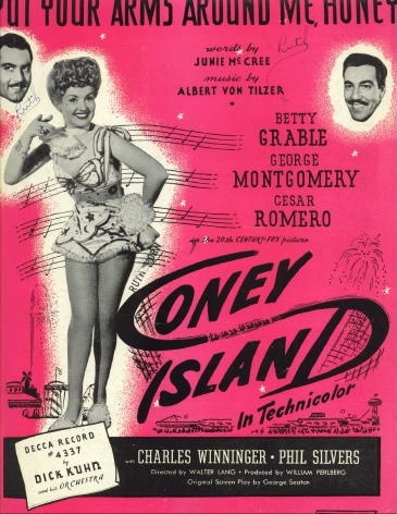 Image for Put Your Arms Around Me, Honey From Coney Island Starring Betty Grable