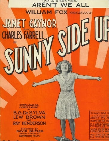 Image for (I'm A Dreamer) Aren't We All From the Movie Sunny Side Up