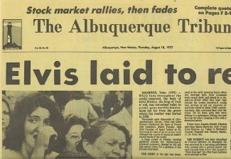 Image for The Albuquerque Tribune: Elvis Laid To Rest