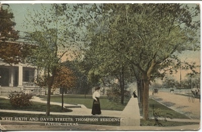 Image for West Sixth And Davis Streets, Thompson Residence, Taylor, Texas