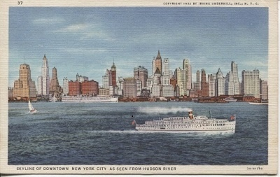 Image for Skyline Of Downtown New York City As Seen From Hudson River