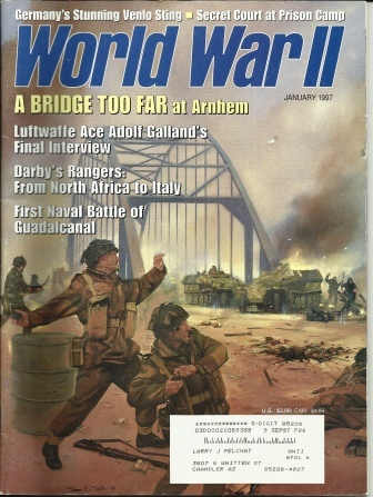 Image for World War II Magazine: A Bridge Too Far At Arnhem January 1997