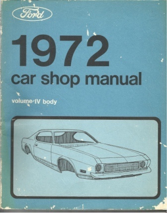 Image for 1972 Car Shop Manual Volume IV Body