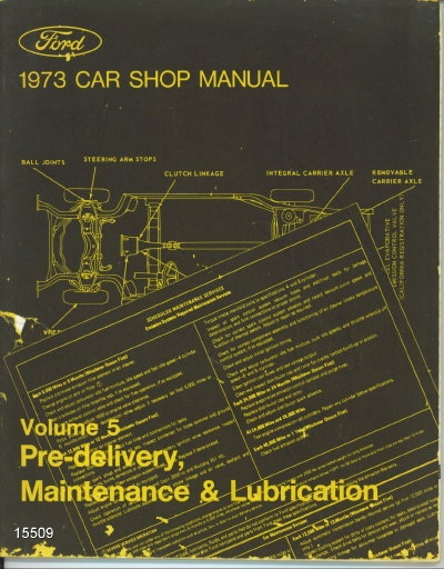 Image for 1973 Ford Car Shop Manual