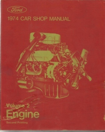 Image for 1974 Car Shop Manual, Ford Volume 2 Engine