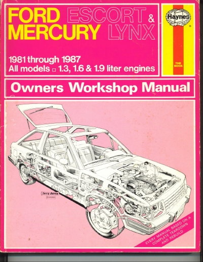 Image for Ford Escort & Mercury Lynx Owners Workshop Manual: