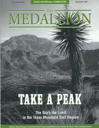 Image for The Medallion, March / April 2007 Take a Peak: the Sky's the Limit in the Texas Mountain Trail Region