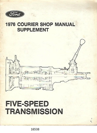 Image for Ford Courier Five-speed Transmission Shop Manual Supplement