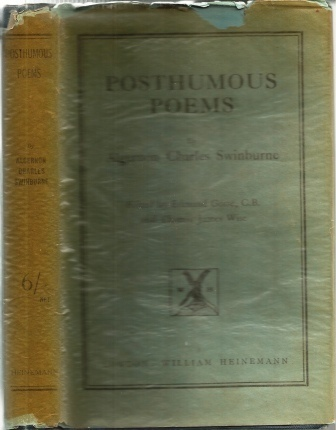 Image for Posthumous Poems The Posthumous Works of Algernon Charles Swinburne