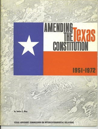 Image for Amending The Texas Constitution