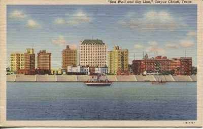 Image for Sea Wall And Sky Line, Corpus Christi, Texas