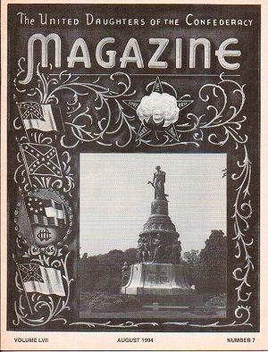 Image for United Daughters Of The Confederacy Magazine August 1994, Volume LVII. Number 7