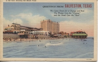 Image for In The Surf, Showing The Beach Front, Galveston, Texas