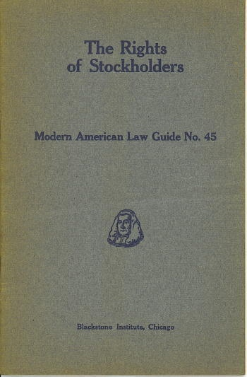 Image for The Rights Of Stockholders