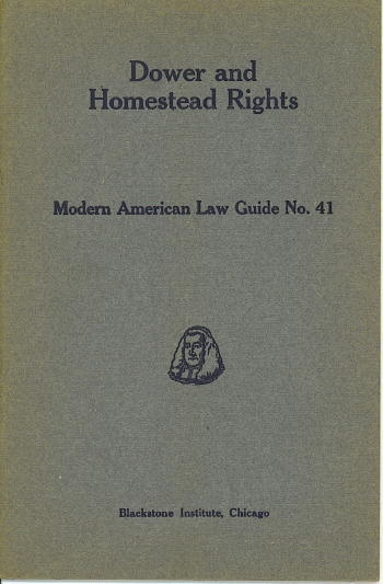 Image for Dower And Homestead Rights