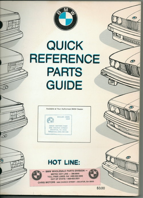 Image for BMW Quick Reference Parts Guide