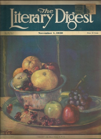 Image for The Literary Digest, November 1, 1930, Vol. 107, No. 5 Public Opinion (New York) Combined with the Library Digest