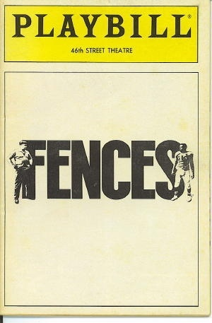 Image for Playbill: Fences