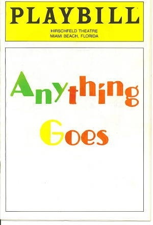 Image for Playbill: Anything Goes, September 1988