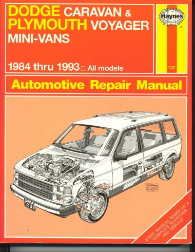 Image for Dodge Caravan & Plymouth Voyager Mini-vans: