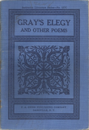 Image for Gray's Elegy And Other Poems , Instructor Literature Series