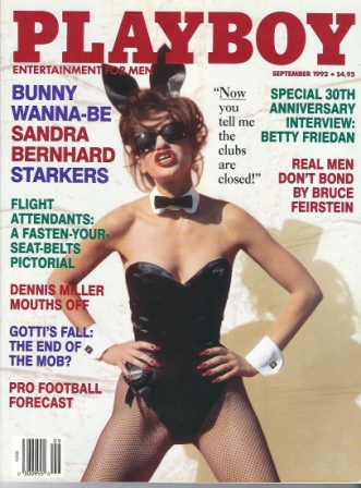 Image for Playboy Magazine, Entertainment For Men, September 1992, Sandra Bernhard