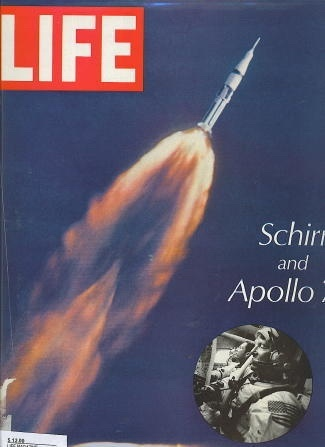 Image for Life Magazine, October 25, 1968 Schirra and Apollo 7