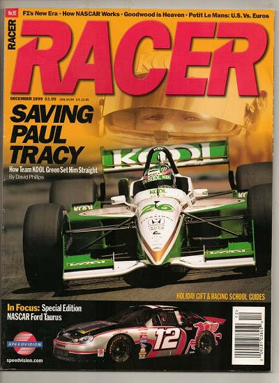 Image for Racer Magazine, December 1999 Saving Paul Tracy