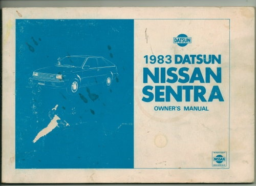 Image for 1983 Datsun Nissan Sentra Owner's Manual