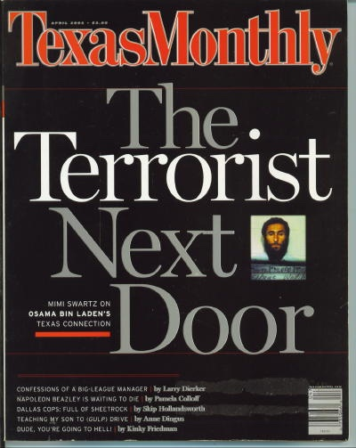 Image for Texas Monthly, April 2002 The Terrorist Next Door