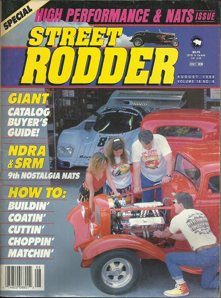 Image for Street Rodder Magazine, Special High Performance & Nats Issue August 1989