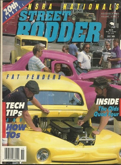 Image for Street Rodder Magazine, 20th Annual NSRA Nationals November 1989