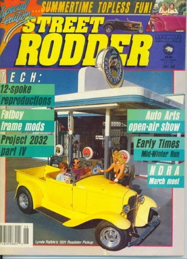 Image for Street Rodder Magazine, Summertime Topless Fun June 1988
