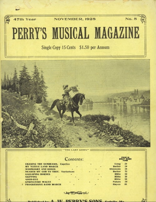 Image for Perry's Musical Magazine, November 1928, No. 8