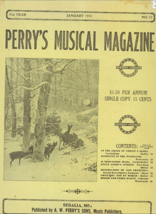 Image for Perry's Musical Magazine, January 1933, No. 10