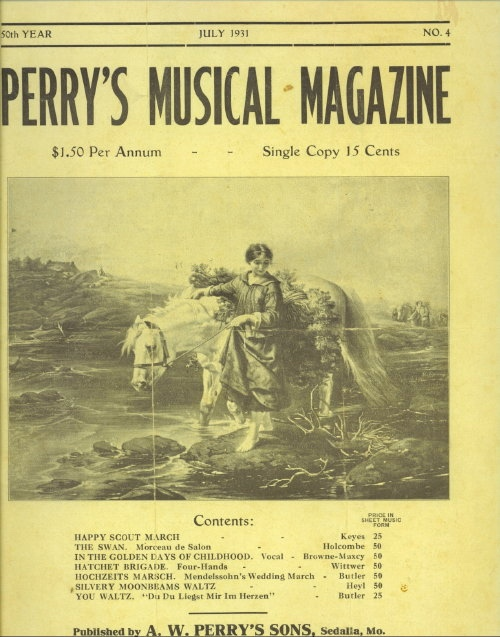 Image for Perry's Musical Magazine, July 1931, No. 4