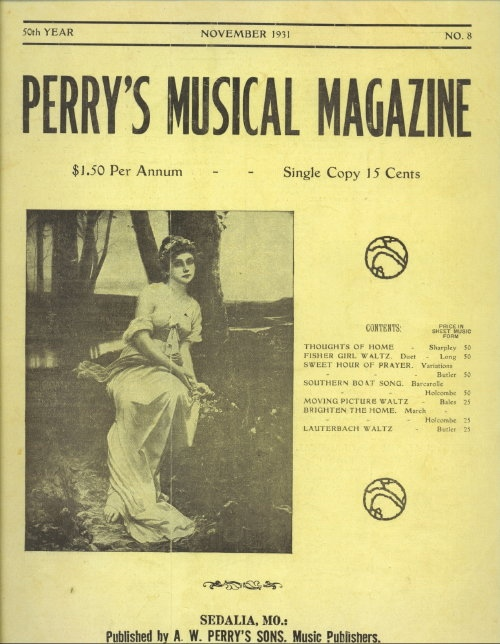 Image for Perry's Musical Magazine, November 1931, No. 8