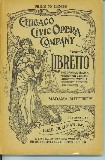 Image for Libretto: Madama Butterfly